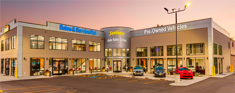 Sunburst Auto Sales Center facility