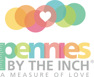 Pennies by the Inch Logo